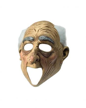 Großvater Maske mit Haarkranz