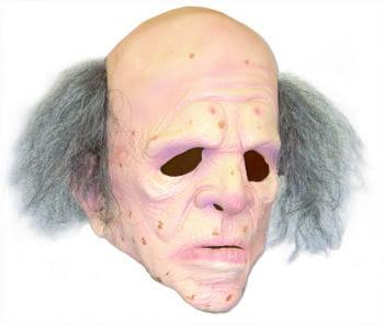 Opa Maske mit Haarkranz