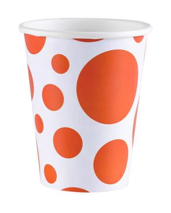 Orange Dots Paper Cups 8 Pcs.