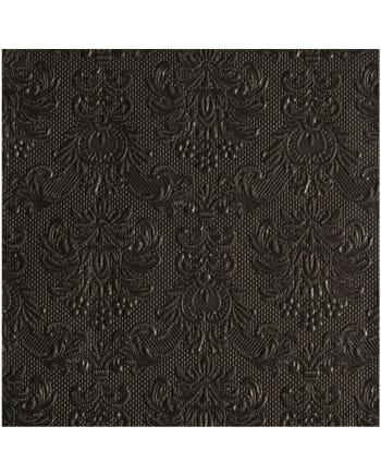 Ornament Napkin black 15 pieces