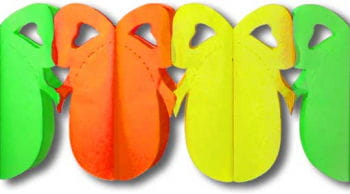 Easter Egg Garland Orange Yellow Green Small