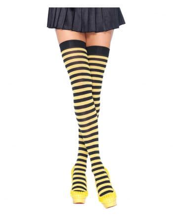 Overknees Bee Black-yellow