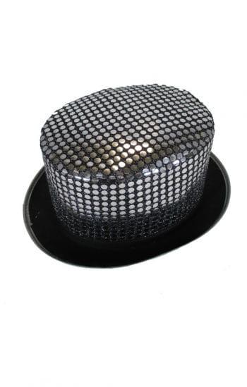 Sequins cylinder silver / black