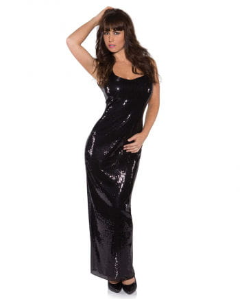 Sequin Dress long black
