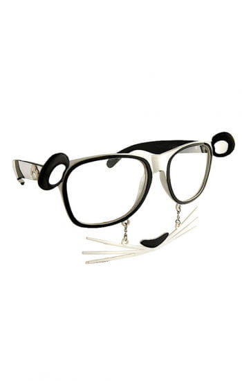 Panda Bear goggles with whiskers