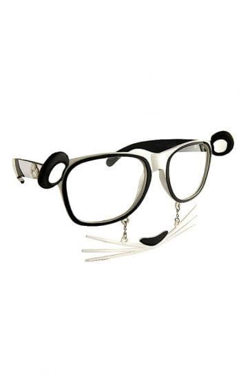Panda Brille mit Schnurrhaaren