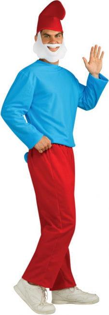 Papa Schlumpf Erwachsenen Kostüm XL