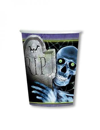 Paper Cups Skull RIP
