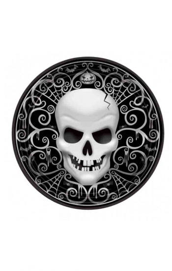 Papp Plate With Skull Motive 8 Pcs