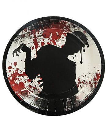 Halloween Zombie Pappteller 8 St.