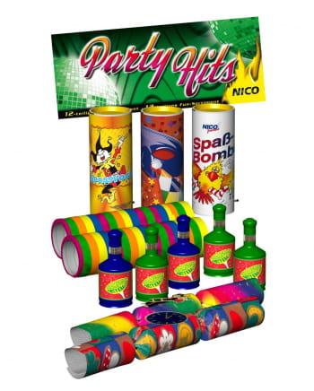 12-tlg. Tisch-Feuerwerk Party Hits