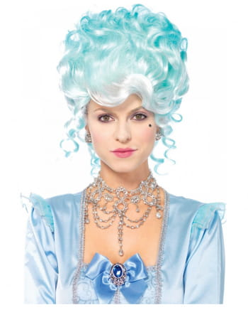 Pastel Baroque Powder Wig Light Blue