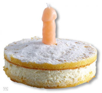 Party candle in penis shape