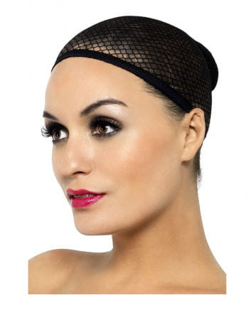 Wig stocking Black fishnet