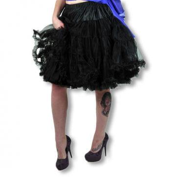 Petticoat with ruffles black