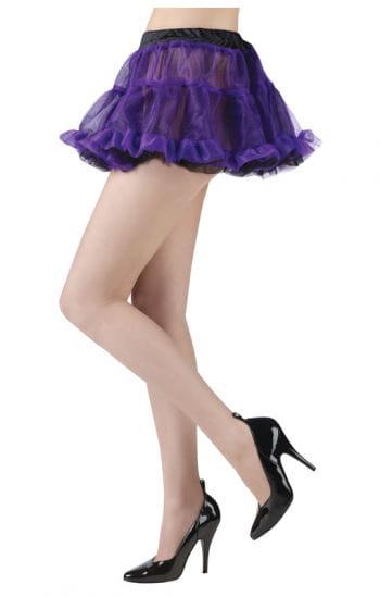 Edler Pettiskirt schwarz/violett