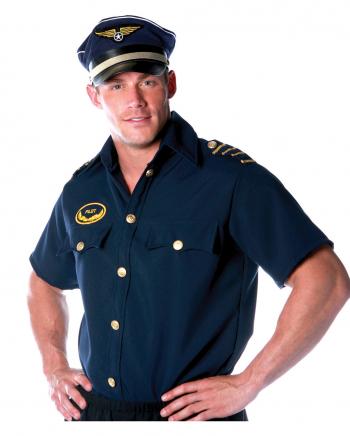 Piloten Shirt Kostüm Gr.L