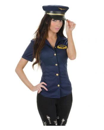 Aufreizendes Pilotin Hemd