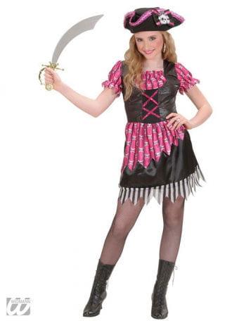 Pink Fantasy Piratin Kinderkostüm