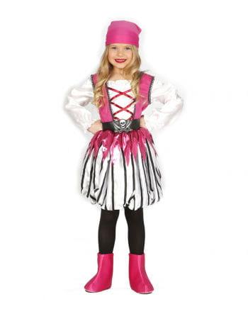 Pinke Piratentochter Kinderkostüm