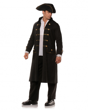 Black Pirate Coat With Hat