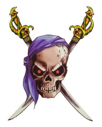 Piraten Tattoo mit Bandana und Säbeln