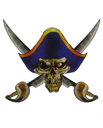 Piraten Tattoo mit Hut und Säbeln