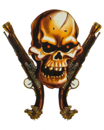 Piraten Klebetattoo mit Totenkopf