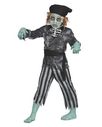 Seeräuber Zombie Kinderkostüm 4-tlg