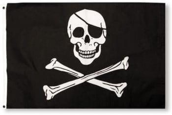 Piraten Flagge mit Totenkopf