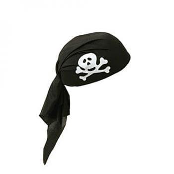 Schwarze Piratenkappe