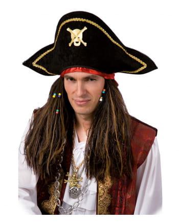 Piratenperücke mit Piratenhut