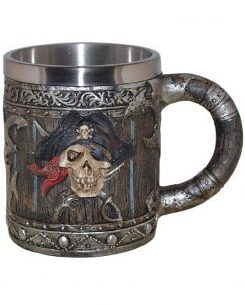 Piraten Totenkopf Krug