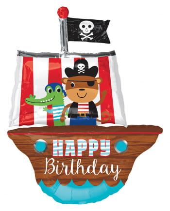 Folienballon Piratenschiff Geburtstag 86cm