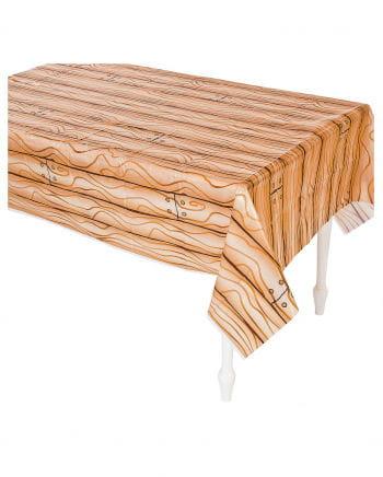 Tischdecke mit Holzbrett Muster