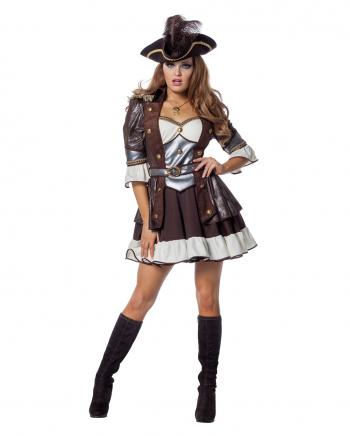 Deluxe Piratin Anne Frauen Kostüm