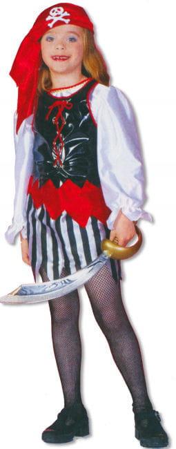 Piratin Kinderkostüm M / 128