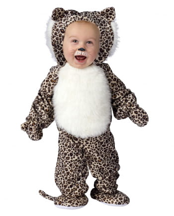 Leoparden Babykostüm aus Plüsch S