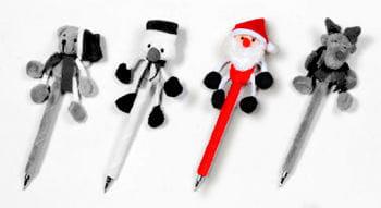 Plüsch Kugelschreiber Nikolaus