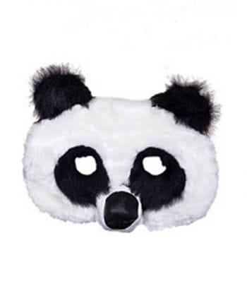 Panda Maske aus Plüsch