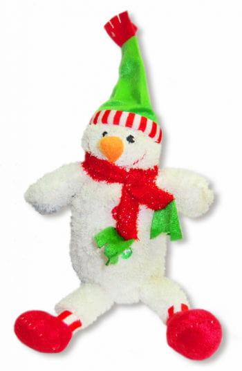 Plush Snowman with green cap
