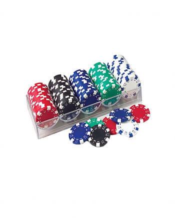100 Stk. Poker Spiel Chips