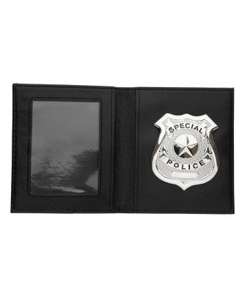 Polizeiabzeichen in Brieftasche