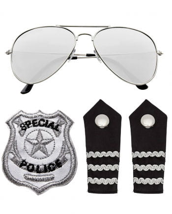 Policemen Costume Accessory Set 4 Pieces