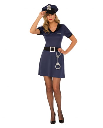 Policewoman costume dress with accessories