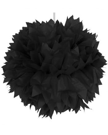 Schwarzer Pompom 30cm