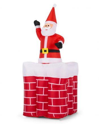 Aufblasbarer Weihnachtsmann im Kamin 180cm
