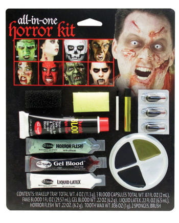 15-teiliges Horror Make-Up Set