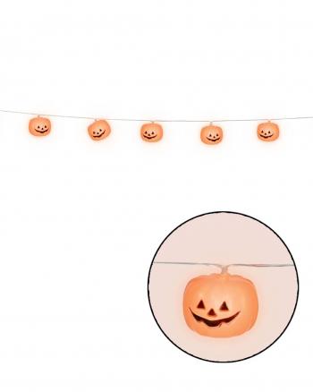 Lichterkette mit 12 LED Kürbissen 180 cm