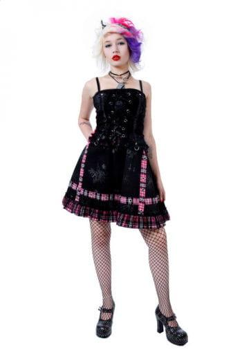 Punk Minikleid Pink Medium